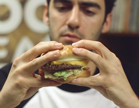 eat burger